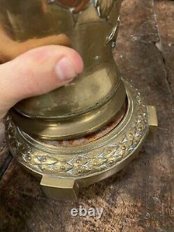 Pied de Lampe à Pétrole Oil Lamp Ancien Bronze Japonais Japon XIXeme Napoleon 3