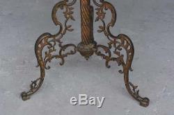 Pied de lampe formant table de fumeur style Napoléon III bronze et marbre