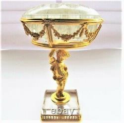 Pique-fleurs en bronze doré et cristal, d'époque Napoléon III