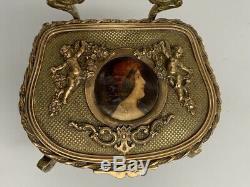 Porte montre gousset boîte bijoux chaise bronze Pocket watch stand jewels box