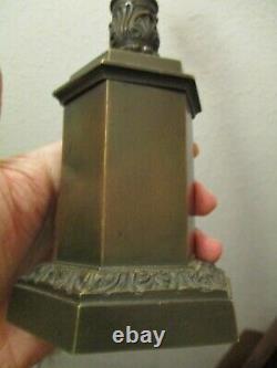 Porte-montre gousset réverbère bronze de qualité maison Giroux a Paris 19ème