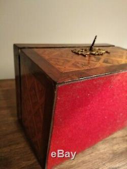 Rare Et Belle Boite À Thé En Marqueterie Et Bronze Doré Circa 1880 Thé Box
