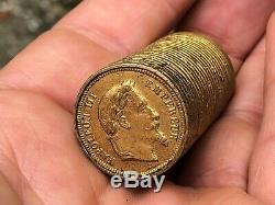 Rare Porte Louis d'Or Trompe L'il Napoléon III 20 francs 1870 Ecu Pieces XIX