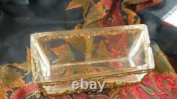 Rare ancienne boite pour encrier napoleon 3 XIXe cristal bronze style empire