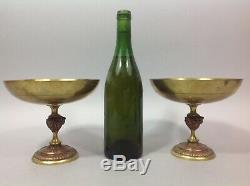 Rare paire Coupes cassolettes bronze laiton C. H et Co déposé Fin 19° Napoléon3