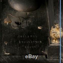 Religieuse en bois noirci et bronze doré, XVIIIe