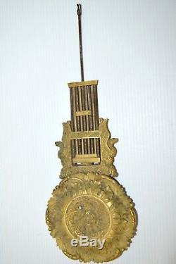 SUPERBE BALANCIER de PENDULE PORTIQUE XIXe Bronze NAPOLEON III NIII HORLOGE