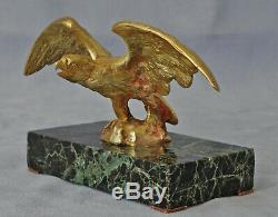 Sculpture Aigle Prenant son Envol Bronze et Marbre Epoque Napoléon III Fin 19ème