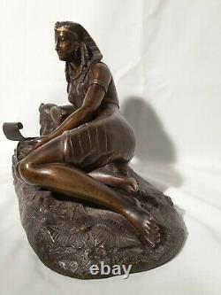 Sculpture en bronze Scène De l'Égypte Antique, Fin XIXe S. Napoléon III