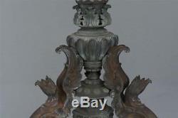 Sellette en bronze Napoléon III à décor de griffons