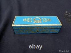 Signé VERVELLE Boite à Bijoux en marqueterie de Turquoise Boulle ép Napoléon III