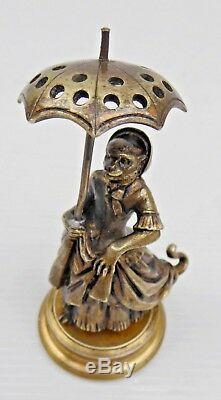 Singe Élégant Pique Cure dents, Tooth Pick, en bronze, XIXe