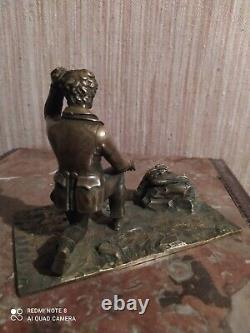 Statuette scène de Chasse en Bronze