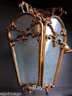 Sublime Anciènne Lanterne En Bronze De Style Napoleon III 5 Verres