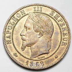 Superbe 10 Centimes Napoleon III Tete Lauree 1862a Paris