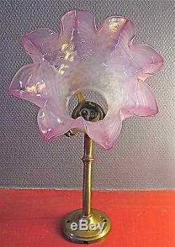 Superbe Applique Tulipe Iridescence Bronze Napoléon III / XIX ème