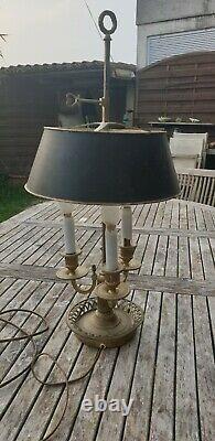 Superbe Lampe Bouillotte Epoque Napoleon III A 3 Feux En Bronze Hauteur 65 CM