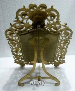 Superbe MIROIR biseauté monture bronze doré NAPOLEON III XIXème
