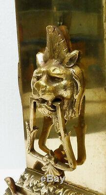 Superbe PENDULE bronze NAPOLEON III révisée fonctionne XIXème beaux décors