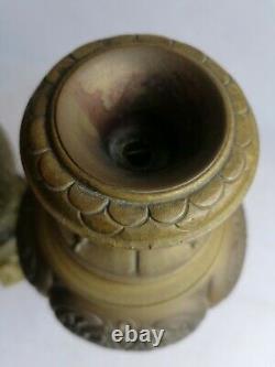 Superbe Paire De Vase Pied De Lampe Bronze Doré D Epoque Napoléon III