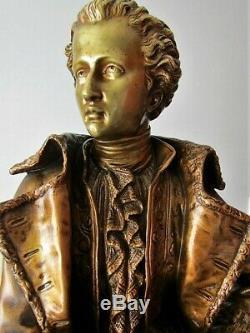 Superbe ancien Bronze Napoléon III 14.3 kg, non pendule Empire, clock
