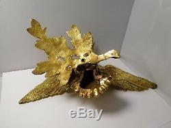 Superbe bronze doré époque Napoléon III Aigle impérial