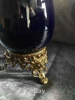 Superbe vase sur socle en bronze napoléon III