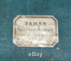 TAHAN COFFRET à BIJOUX BRONZE LAITON ÉMAILLÉ BLEU de SÈVRES NAPOLÉON III XIXème