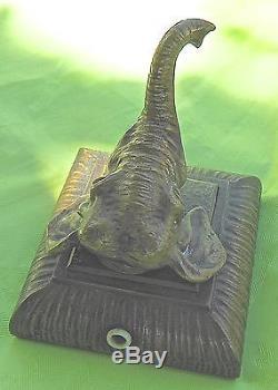 TETE D'ELEPHANT, Sonnette de table bronze de VIENNE, ELECTRIQUE FIN du XIXe