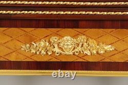 Table à jeux Napoléon III par François Linke marqueterie bronzes dorés