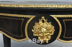 Table violonée Napoléon III marqueterie Boulle XIXème