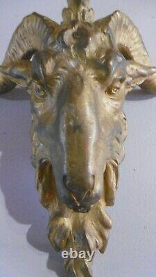 Tete De Belier En Bronze Xixeme Ornement Et Decoration De Meuble