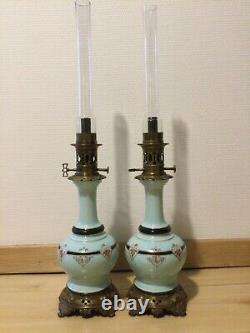 Tres Belle paire de lampes a petrole