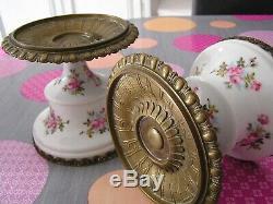 Très Jolie Paire de Vide-Poches en Porcelaine de Paris et Bronze Napoleon III