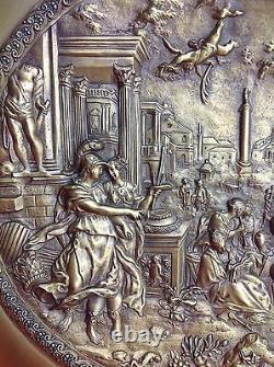 Très grande coupe fin 19° Bronze doré Les neuf muses Mythologie Grecque