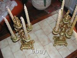 Une paire de chandelier candélabre bout de table 19 eme