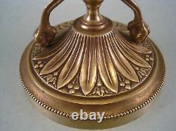 Vase Cornet en cristal à pans monté sur socle bronze décor Aux Chimères XIX ème