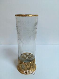 Vase Rouleau. Napoléon III. Cristal et Bronze. France XIXe siècle