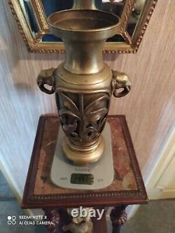 Vase en Bronze à décor d'éléphants Indochine