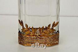 Vase en Cristal et Bronze Doré Torches et Laurier Empire Napoléon III ca 1850