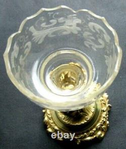 Vase porte-bouquet cristal et bronze doré, Napoléon III