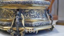 Vervelle Paris, Coffret à Bijoux En Bronze Doré Et Argenté Nacre, Napoléon III