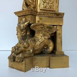 Victor Paillard Pendule Bronze Eros Et Sablier Du Temps Mouvement Brocot C2357