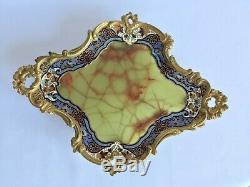 Vide Poche En Bronze Cloisonne Et Onyx Napoleon III Decor Louis XV XIX Eme H63