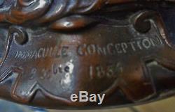 Vierge En Bronze Limmaculée Conception 8x Bre 1854 Dn175