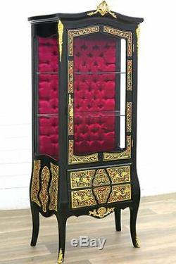 Vitrine Boulle Style Napoleon III Marqueterie Laiton Bronze Belle Epoque Empire