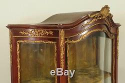 Vitrine style Louis XV bronzes dorés vernis Martin Napoléon III